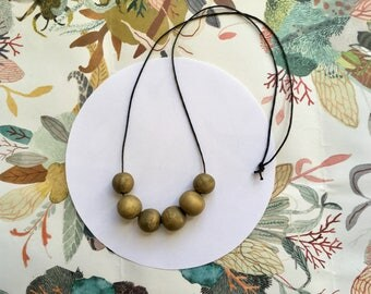 Handmade Goldie Polymer Clay Bead Necklace
