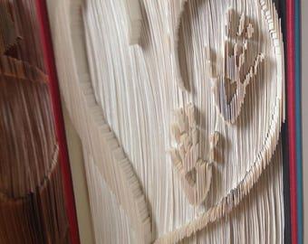 Hands in heart Book folding pattern