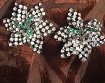 1920's/30s Rhinestone Wire Jewelry