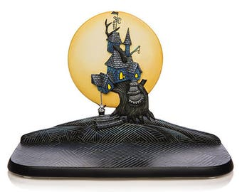 Tim Burton Nightmare Before Christmas Oogie Boogie House Display by Jasmine Becket Griffith / The Hamilton Collection - Bradford Exchange