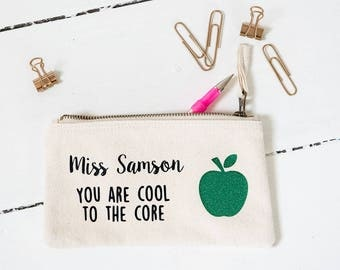 Teacher thank you pencil case personalised - end of term