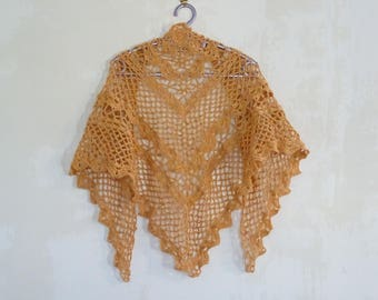 Summer shawl, rosette motifs, very light and comfortable, woman stole, woman gift, woman shawl, handmade shawl, summer accessories