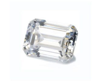 Cubic Zirconia White Octagon Step-Cut 5A Loose Stones (6x4mm - 20x15mm)