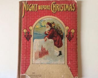 Night Before Christmas  #0532 By Clement C. Moore/Charles E. Graham & Co/Antiquarian/Rare Book/ Christmas Stories/Collectible Childrens Book