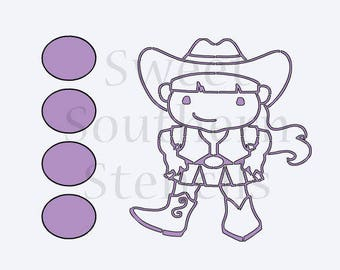 Cowgirl PYO Cookie Stencil