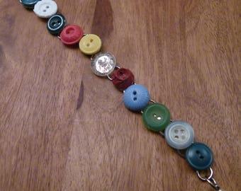 Vintage Button Bracelet 2 , B89