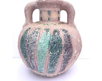 Mexican Clay Jug -- Clay Jug -- Mexican Clay Water Jug -- Water Jug -- Southwest Pottery -- Southwest Decor -- Mexican Pottery -- Floor Vase