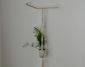 New Macrame and Ceramic Plant Holder, Planter, Plant Pot
