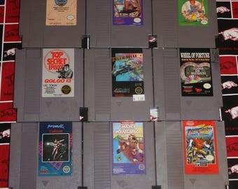 Nintendo Game - Faxanadu - Little Nemo Dream Master - Little League Baseball -Golgo 13 - Tiger Heli - Section Z - Mickey Mousecapade -Dash