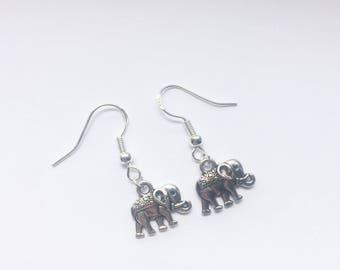 Lucky elephant hook earrings