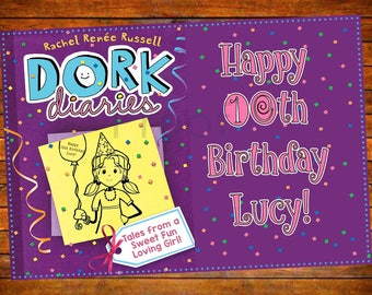 Dork Diaries Personalized Party Decor