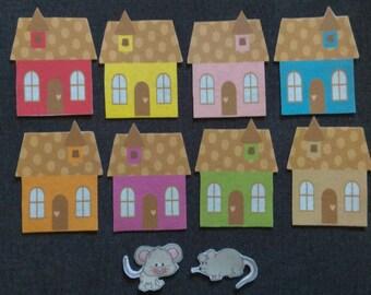 Little Mouse Game Felt Set // Flannel Board Set // Preschool  // Cognitive Skills // Hide and Seek Felt Game