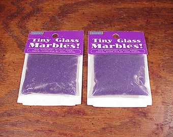 Lot of 2 Packs of Tiny Glass Marbles!, Royal Blue, Transparent, 40 Grams, 1.41 ounces each pack, made by Halcraft, Craft Supply