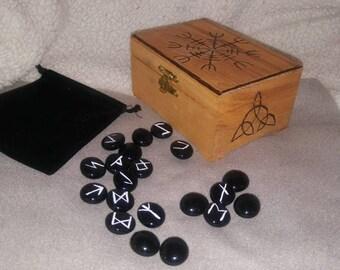 Helm of Awe handburned Viking Heathen wooden box