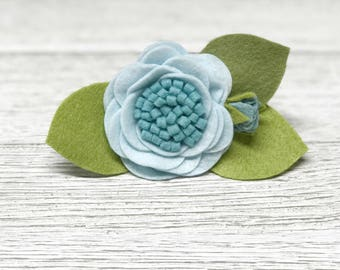 Blue blooms || Floral headband || Flower Headband