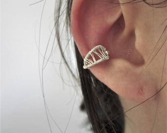 Ear cuff - bague d'oreille - argent sterling - wire wrapping