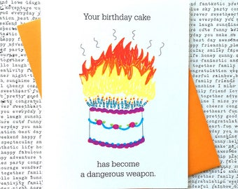 Funny Birthday Card, Birthday Cake Card, Funny Birthday Card For Her, Birthday Card Funny, Birthday Card For Him, Birthday Card Friend