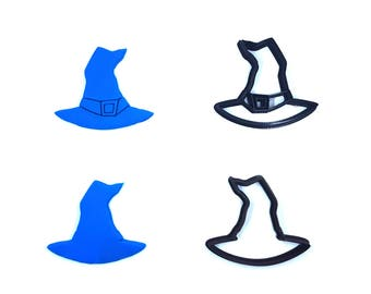 Witch Hat Cookie Cutter - 3D Printed - Halloween Cookie Cutter- Bakery Cutter - Witches Hat - Clay Cutter - Fondant Cutter - FunOrders