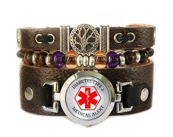 Diabetes Type 2 Medical Alert Bracelet