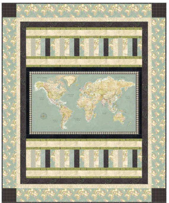 Meridian map fabric continents on green world map fabric by 300 gumiabroncs Gallery