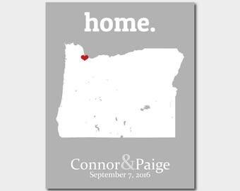 Portland Oregon Map, Portland Oregon Art, Portland Oregon Print, Custom Portland Map, Portland Art, Portland Print - Any State or Country