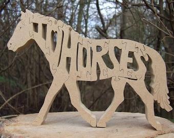 horse, horse jigsaw, horse ornament, horse gift, wooden horse, horse lover gift, horse puzzle, wooden horse  jigsaw,