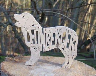 Leonberger, Leonberger dog, Leonberger jigsaw, wooden  Leonberger, Leonberger ornament, Leonberger puzzle, Leonberger memorial