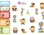 Adventure is out there - Floating, Balloon, House - Planner Stickers for ECLP, Happy Planner, Filofax, Kikki.K etc
