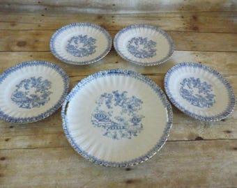 Tuppack Blue Tiffenfurt Blue Porcelain Dessert Set