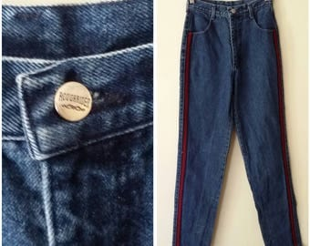 Rough Rider jeans, XS, S, 70's jeans, 70's denim, vintage jeans, vintage denim, dark denim, medium fade, denim jeans, high waisted jeans