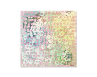 Polk A Dot Balloon Painting | Abstract Painting | Balloon Art | Balloon Painting | Pink Painting | Pink Art | Dots | Contemporary Art |