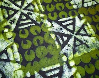 Ghana Africa Batik, Hand Dyed, by the half yard