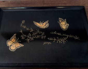 Couroc Monarch Butterfly Tray