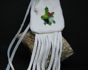 medicine bag beadswork turtle medecine wheel