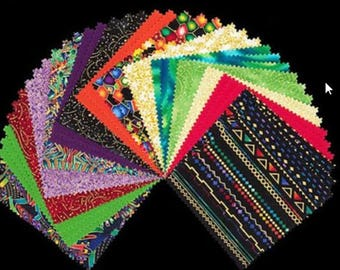 Lumina Jewel Colorstory Charm Square 5 inch Squares CHS-189-42 by Peggy Toole for Robert Kaurman NEW Free Shipping US
