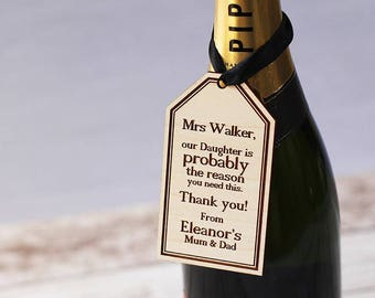 Personalised Bottle Tag with Ribbon