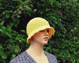Crochet Summer Breeze Ladies Sun Hat Pattern DIGITAL DOWNLOAD ONLY