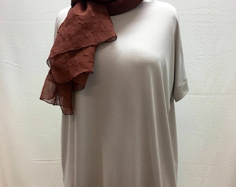 Individual, Unique, Batwing, Oversized, Top, Tunic, Short Sleeves, One Size, Beige