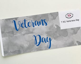 Watercolor Veterans Day Full Day Stickers    For Erin Condren Teacher Planners