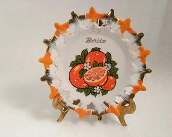 Vintage Decorative Florida State Wall Plate by Specialty Industries