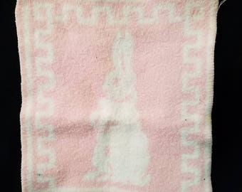 Dy Dee or Tiny Tears Pink Esmond Doll Blanket Rabbit Bunny