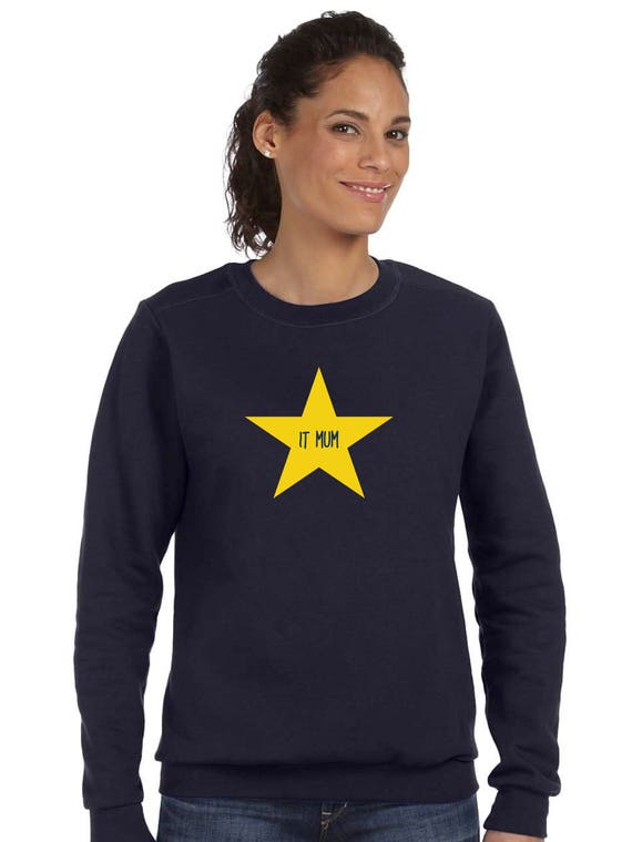 Round neck women sweater IT MUM in a STAR