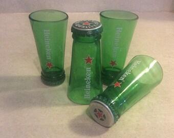Shot Glasses Cut From Recycled Heineken Beer Glass Bottles ManCave, Guy Mug, Cerveza, Birra, Guy Mug Holland