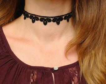 gift for girlfriend gift ideas Black choker Lace choker Black lace Choker necklace Lace necklace Boho choker Gothic choker Victorian choker