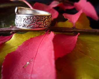 "Handmade Spoon Ring ""Tangier"" Pattern - Vintage"