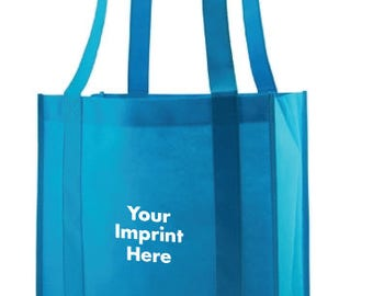 100 Custom Grocery Tote Bags - 1 Color Print