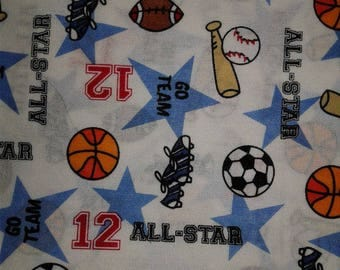 All Star Cotton Fabric by the Yard
