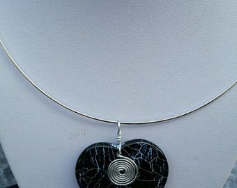 Agate pendant Choker necklace
