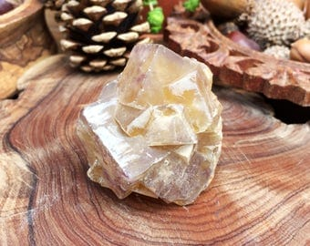 Lovely Natural Yellow Cubic Fluorite Crystal Formation