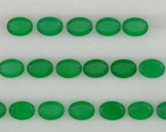 25-P Wholesale Lot Of Natural Green Onyx 5X7 MM oval cut Faceted Loose Gemstone for jewelry